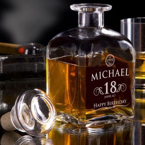 Whisky Karaffe 18. Geburtstag elegant