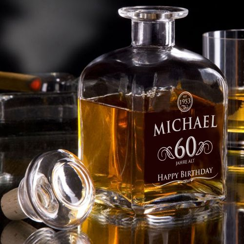Whisky Karaffe 60. Geburtstag elegant