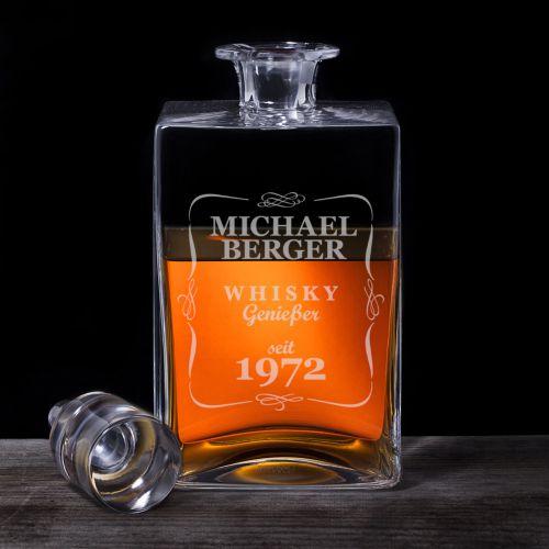 Whisky Karaffe Deluxe mit Gravur Klassisch