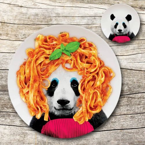 Assiette sauvage – Panda