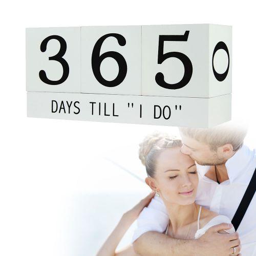 Würfel Countdown zur Hochzeit