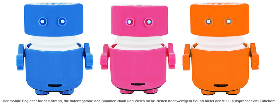 Mini Lautsprecher - Roboter - 3