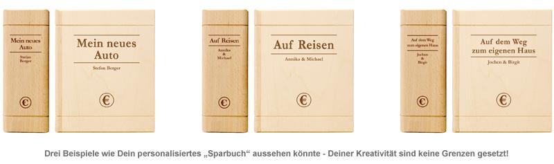 Spardose - Buch aus Holz - 2