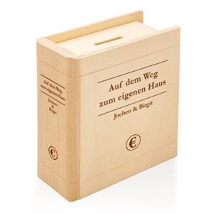 Spardose - Buch aus Holz - 3