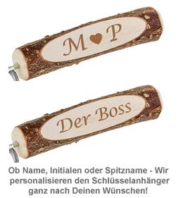 Schlüsselanhänger Holz - personalisiert - 2