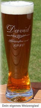 Weizenglas mit Gravur - 2