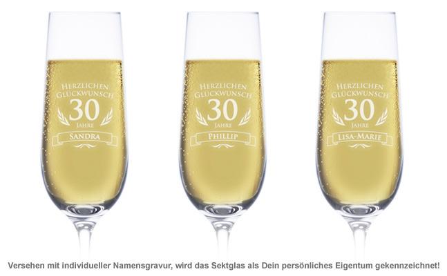 Sektglas zum 30. Geburtstag - 2