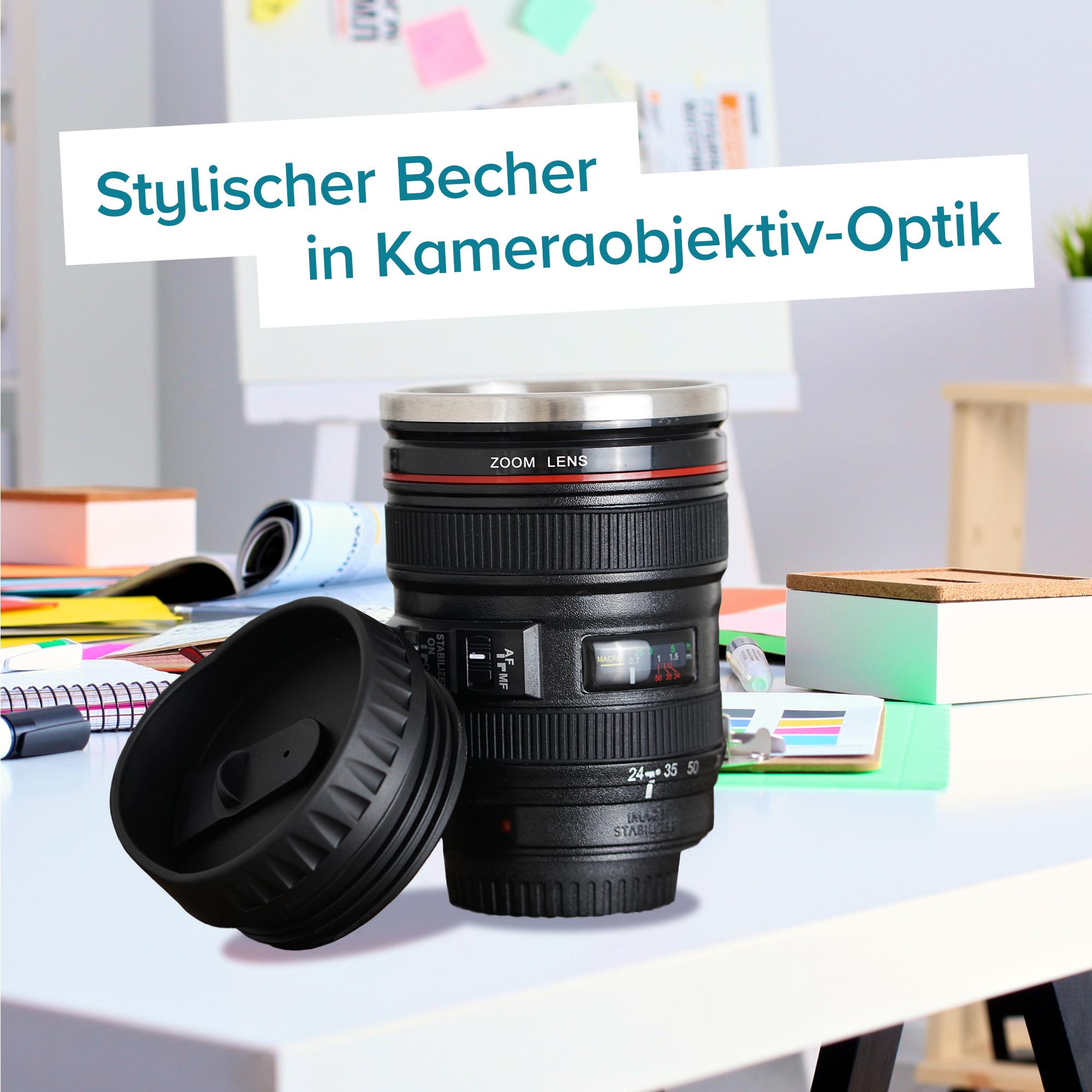 Thermo Kaffeebecher - Kamera Objektiv - 2