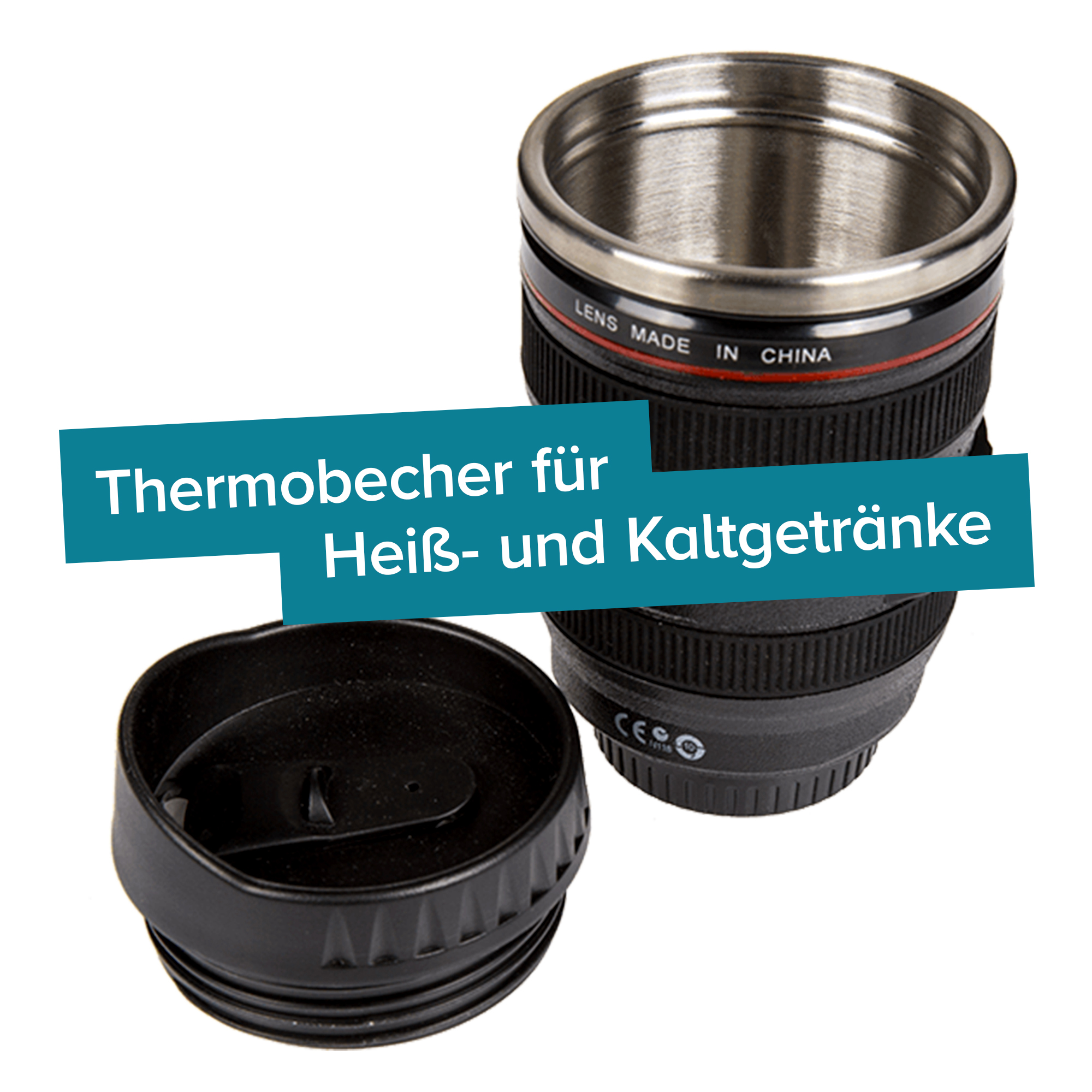Thermo Kaffeebecher - Kamera Objektiv - 3