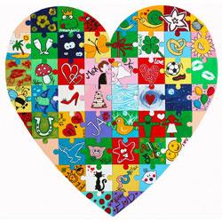 Holz Puzzle Herz zum Bemalen - 4