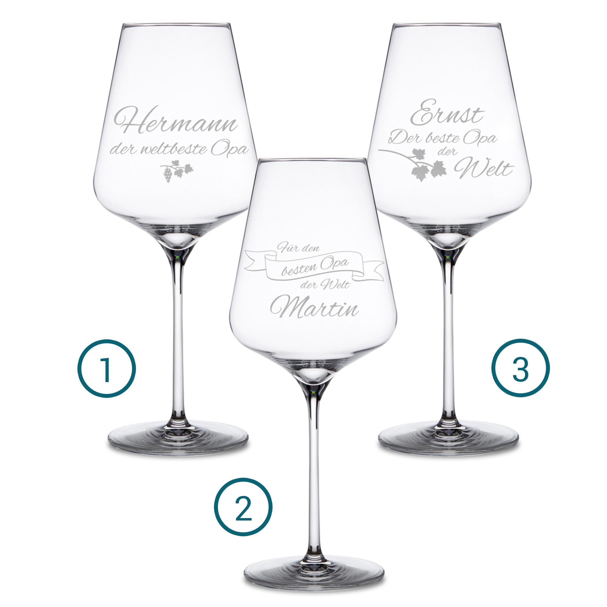 Weinglas mit Gravur Bester Opa super Geschenk für
