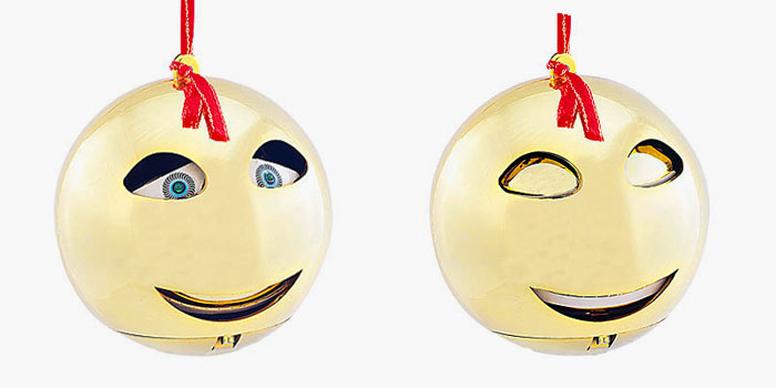 Singende Weihnachtskugel gold - 2