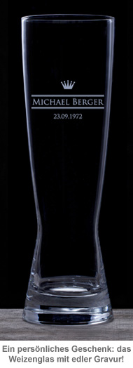 Weizenglas mit Gravur - Royal - 2