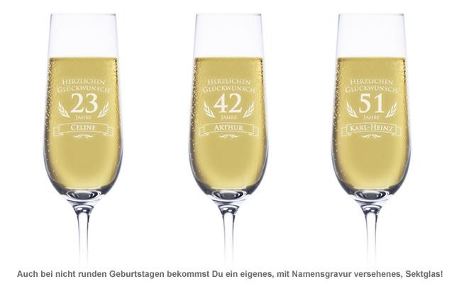 Sektglas zum Geburtstag - 2