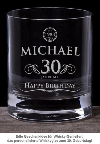 Whiskyglas 30. Geburtstag - elegant - 2