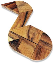 Holz Puzzle - Herz - 3