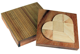 Mini Holz Puzzle - Herz - 4