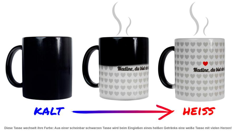 1000 Herzen - personalisierte Tasse - 2