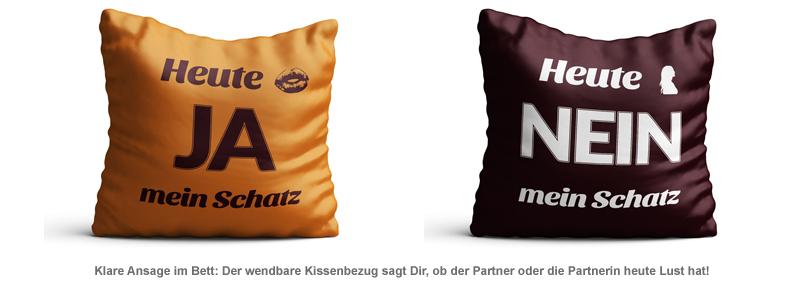 Kissenbezug zum Wenden - Ja/Nein - 2