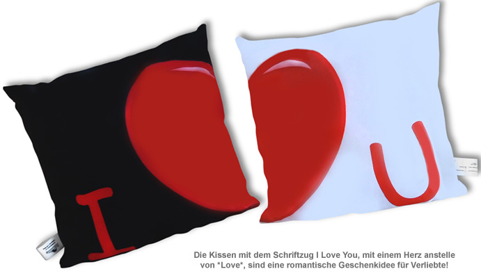 Kissenbezug 2er Set - I Love You - 2
