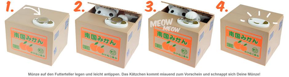Katzen Spardose - Kitty Bank - 2