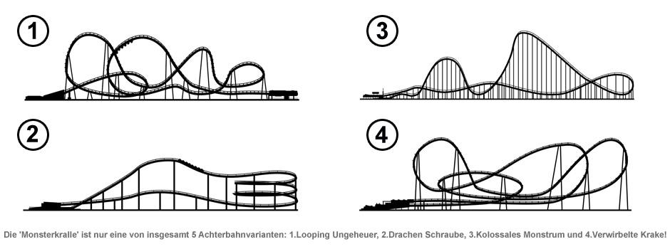 Vorgarten Achterbahn 214 Mio Teiliger Bausatz Irrer Fahrspaß