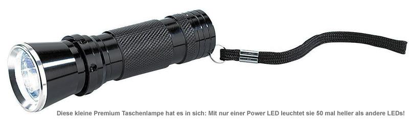 Premium Taschenlampe mit Power LED - 2