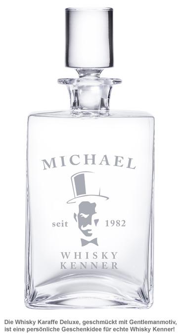 Whisky Karaffe Deluxe - mit Gentleman Gravur - 2