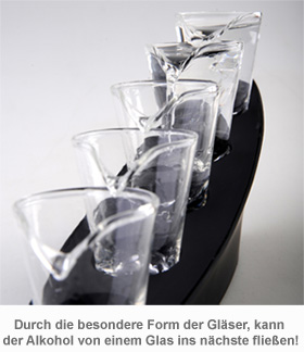 Domino Schnapsgläser mit Beleuchtung - 2