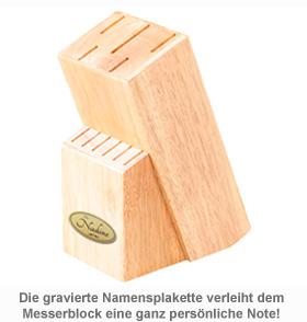 Holz Messerblock mit Gravur - 2