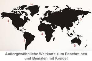Wandtattoo Weltkarte - 2