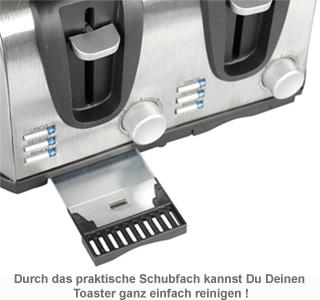 Toaster vierfach - graviert - 2