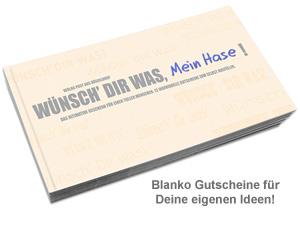 Gutscheinbuch Blanko - Wünsch Dir was - 2