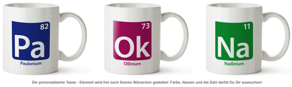 Personalisierte Tasse - Element - 2