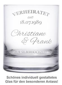 Whiskygläser zur Silberhochzeit - 3