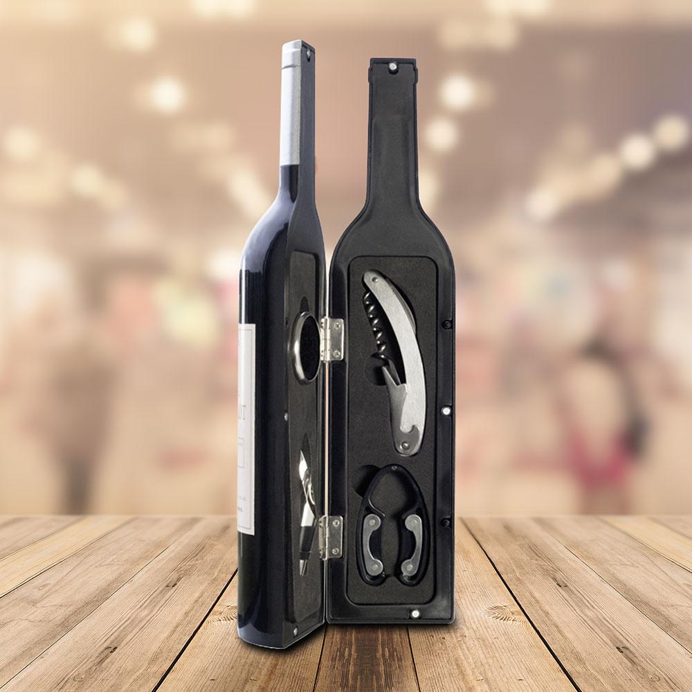 Sommelier Set In Flaschenform Schones Geschenk Fur Weinliebhaber