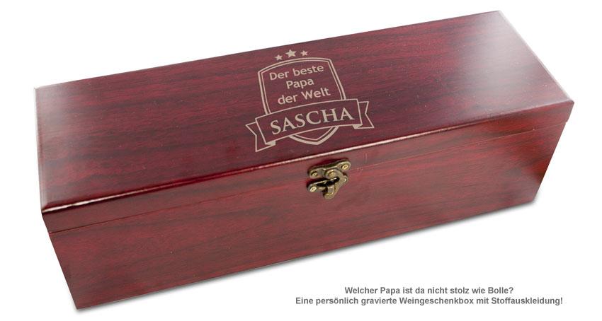 Wein geschenkbox mit gravur