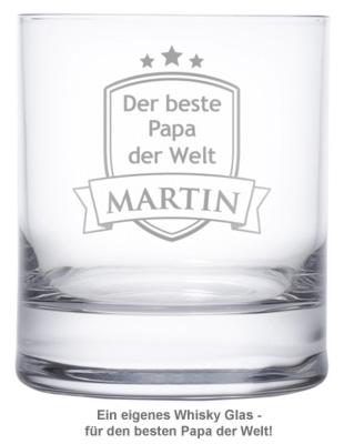 Whiskyglas mit Gravur - Bester Papa - 2