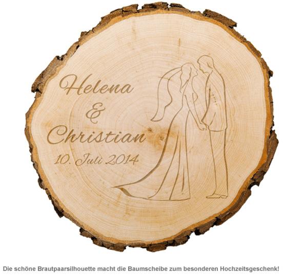 Baumscheibe zur Hochzeit - Silhouette - 2