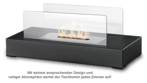 design tischkamin f r bioethanol sicheres sauberes kaminambiente. Black Bedroom Furniture Sets. Home Design Ideas