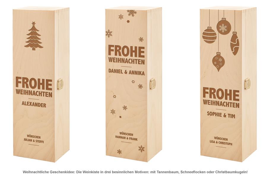 Personalisierte Weinkiste - Weihnachten - 2