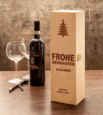 Personalisierte Weinkiste - Weihnachten - 4