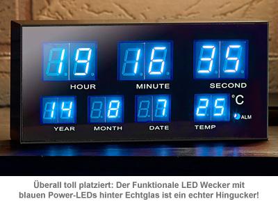 Multifunktionswecker mit blauen LEDs - 3