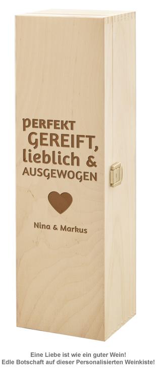 Personalisierte Weinkiste - Liebe Perfekt Gereift - 2