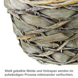Weidenkorb mit Dekoherz und Henkel - 4