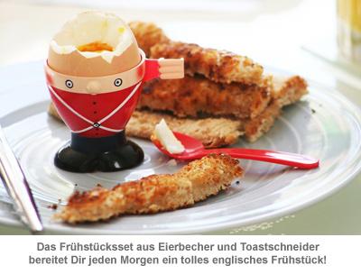 Eierbecher und Toastschneider Frühstücksset - Soldat - 2