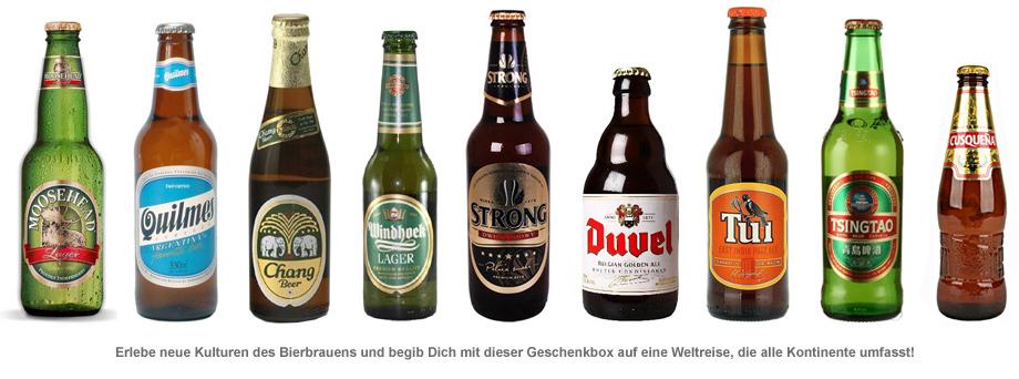Biere aus aller Welt - Geschenkbox - 2