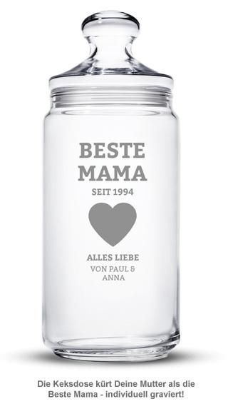 Keksdose mit Gravur - Beste Mama - 2