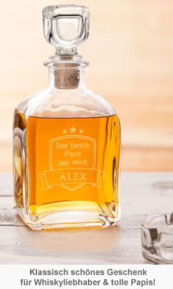 Whisky Karaffe mit Gravur - Bester Papa - 2
