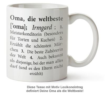 Personalisierte Tasse - Definition Weltbeste Oma - 2